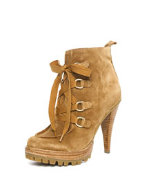 KORS Michael Kors Hayley Lace-Up Bootie