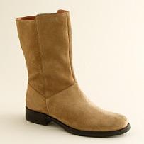 J.Crew Templeton short suede flat boots