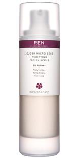 REN jojoba microbead purifying facial scrub, $35
